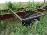 Semi hay trailer