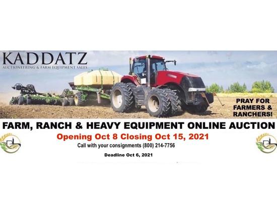 Farm, Ranch, Heavy Equipment Online Auction