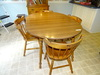 Maple Dinette Table and 4 Chair