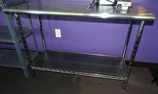"Stainless steel Prep table 24"" X50""X35"" High"