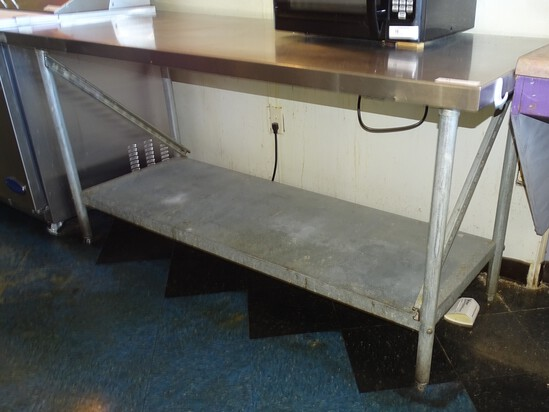 "Stainless Steel prep Table 29 1/2"" X 35"""