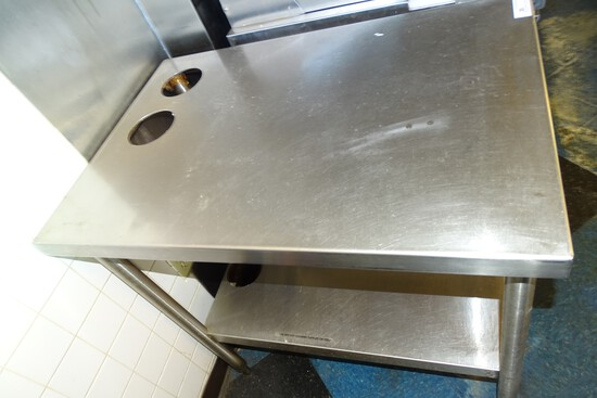 "Stainless Prep Table 24 1/2"" X 35"" X 36"""