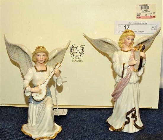 """2 Lenox Figurines """"Angels' Serenade"""" IB"""