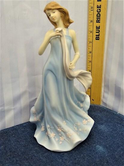 Home Interiors Porcelain Lady Figurine, Stephanie