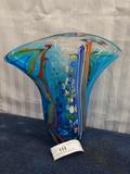 Multi Color Murano vase 11