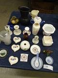 Misc. Lot Tea Pot Candleholders Cup& Saucers etc.
