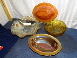 4 Pieces of Depression Glass
