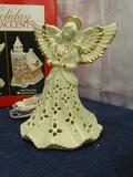 Porcelain Jade Angel lighted