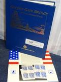 50th Annv Golden Gate Bridge Stamp Folio