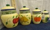 4 Pc Fruit Cannister Set