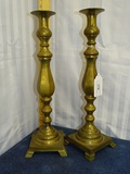 Pair Brass Candle Holders 17