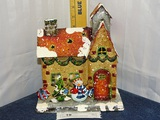 Home Interiors Tin Snow Covered House