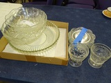 Box Lot of Clear Glass