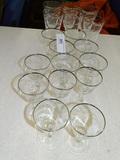 18 pcs French Crystal Barware