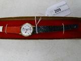 Spiro Agnew Wrist Watch Black & Red Band