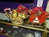 Christmas Lot - Metal Sleigh, Jingle Bells,More