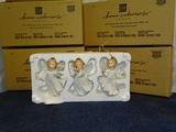 4 Boxes of  3 White Angel Oenaments MIB NOS