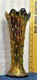 Northwood Carnival Vase Heavey Iridescence 10
