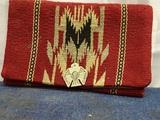 Vintage Chimayo Ganscraft Wool Clutch HandCrafted