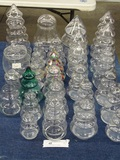Lot of Glass Christmas Tree Containers