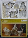 3 Pc. Glazed Porcelain Christmas Set in Box
