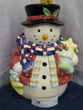 Snowman  Cookie Jar by Gibson