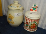 2 Ceramic Containers with Lids