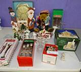 Christmas Lot Box Lighted Bear & etc.