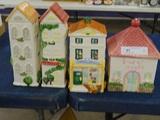 4 Ceramic Village Houses