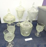 Lot of Diamond Point Glass
