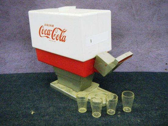Coca-Cola Dispensary with 4 glasses