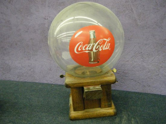 Coca-Cola gum dispenser glass globe