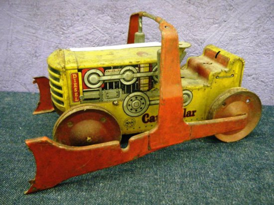 MARX pressed steel toy Caterpillar