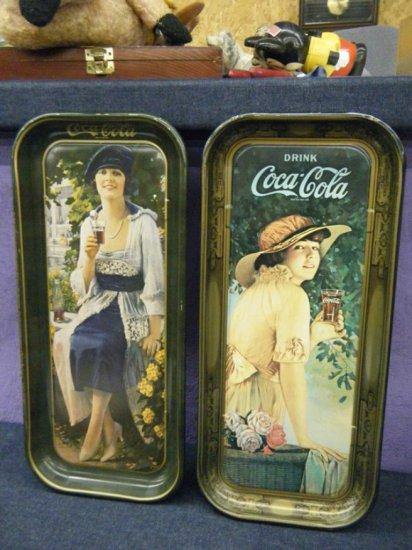 Two Coca-Cola trays 1973
