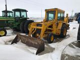 93825- JD 310 B BACKHOE, 2WD, 3574 HRS SHOWING, CAB, ORIGINAL, NICE (FIKE BROTHERS FARM RETIREMENT)