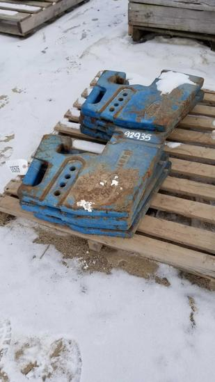 92935- FORD FRONT END WEIGHTS (8)