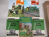 85461 2- JD Tractor Log Books, old tractors, sales brochure 110 L&G, 1010 RC Utility Literature