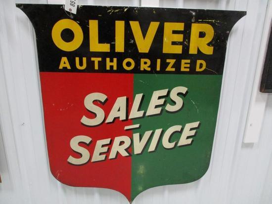 """85117 - Oliver Sales & Service, single- sided, metal 47"""" x 46"""""""