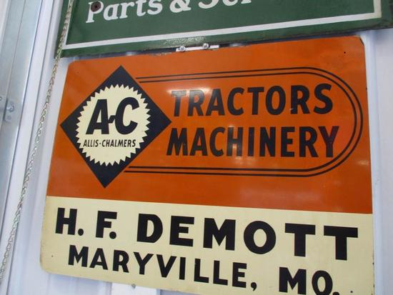 85384 - AC Tractors, single- sided metal, HF Demott, Maryville, MO 24 X 18
