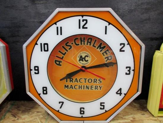 "85306 - Allis Chalmers Farm Equipment Neon, glass, 18"""