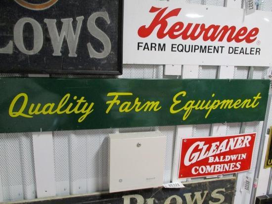 85329 - Quality Farm Equipment Sign, metal 58 X 10