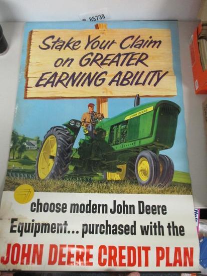 """85738 - JD 4010 credit plan poster, 37 1/2"""" X 25"""""""