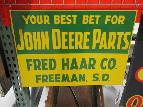 85360 - JD Parts Sign Fred Haar Freeman, SD 20 X 28
