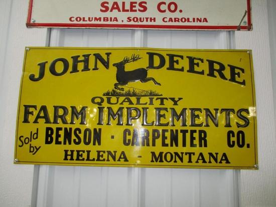 85158 - JD Quality Farm Implement Helena, MT, embossed 12 X 23.5