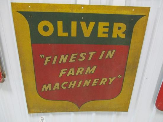 """85111 - Oliver Farm Machinery, double- sided 40"""" x 40"""""""