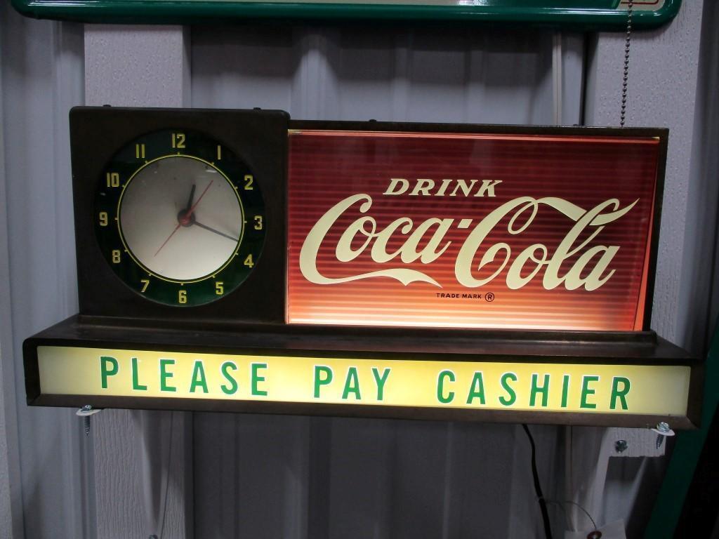 85130 - Coca-Cola Restaurant Clock, lighted