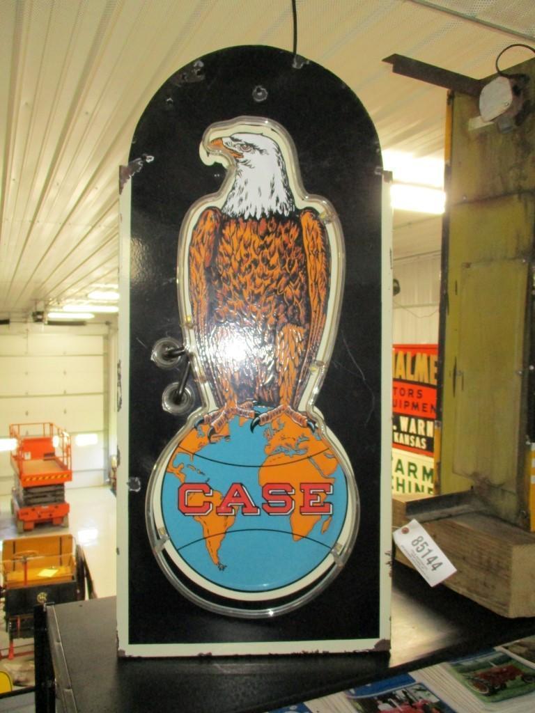 85144 - Case Eagle Sign, neon, porcelain, 18 x 40