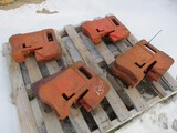 3131-(10) IH 75LB FRONT WEIGHTS, SELLS BY THE PIECE