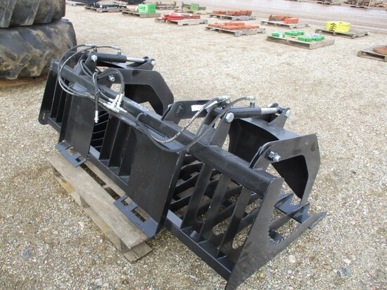 "3950- 80"" DOUBLE GRAPPLE SKID LOADER MOUNT"