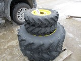 3338-(4) JD SUB COMPACT TRACTOR RIMS & TIRES